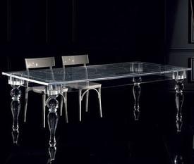 Новый проект стола со стеклянными ножкам
