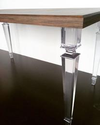 Обеденный стол ( шпон Венге) с прозрачны