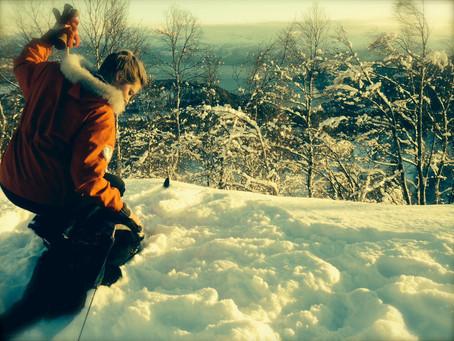 Om eg var snø som lava ned