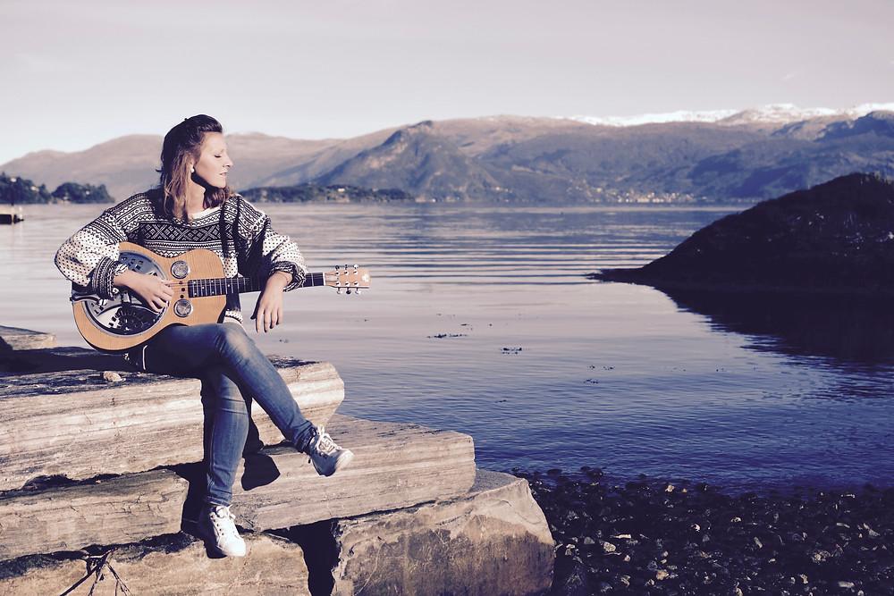 Eli Gauden at a norwegian beach