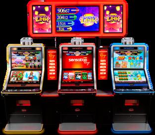 SENSATION Una librería de 20 espectaculares juegos Full HD capaz de proporcionarte una experiencia de juego única. Para juegos en comun SAKURA LINK es un juego comunitario diferente y, sin duda, también muy especial, con el que seguro vivirás una experiencia de juego irrepetible.  SAKURA LINK se activa mediante una apuesta adicional. A mayor apuesta, mayor probabilidad de acceso y de un premio mayor.  *Golden Wheel también disponible.
