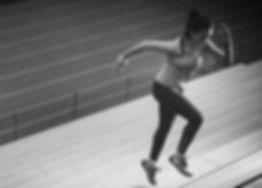 LUMEN Woman Running Up Stairs