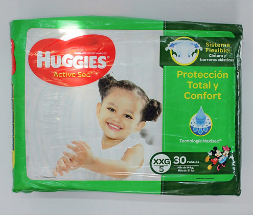 Huggies Active Sec 5x30