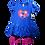 Thumbnail: Conjunto vestido leggins para niña