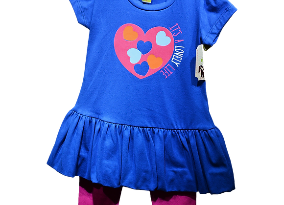 Conjunto vestido leggins para niña