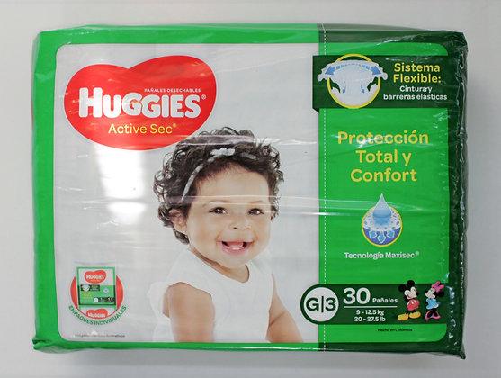 Huggies Active Sec 3x30