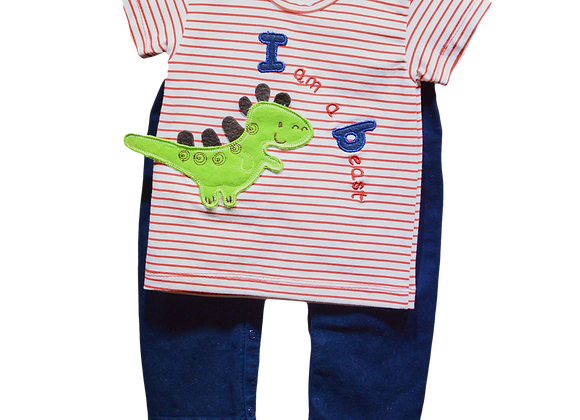 Conjunto Pantalon Bebe x Camisa Bordada