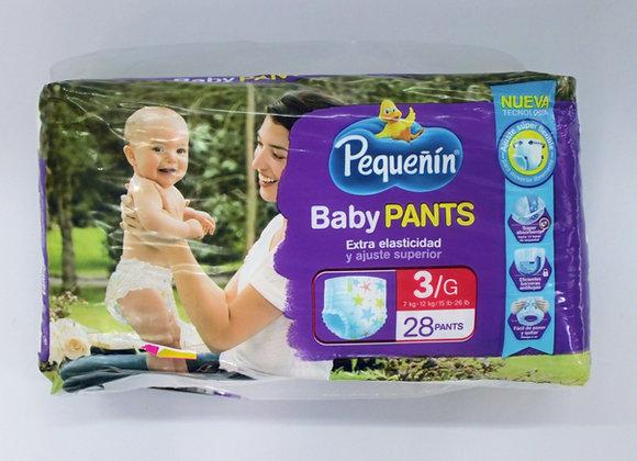 Pequeñin Baby pants 3x28Unds