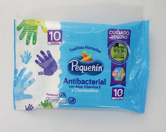 Toallita Pequeñin Antibacterial x 10Unds