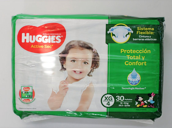 Huggies Active Sec 4x30