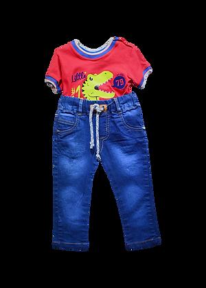 Conjunto Jean Bebe x Camiseta Estampada