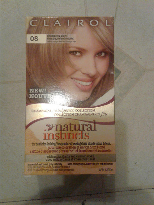 CLAIROL Natural Instincts with antioxidants and vit. C & E (08 Champagne Glow)