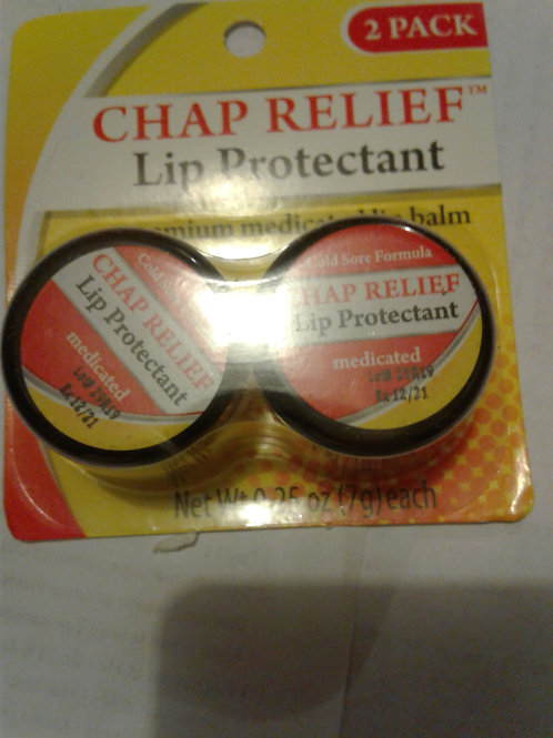 CHAP RELIEF Lip Protectant, medicated lip balm, 0.25 oz (2-pack)
