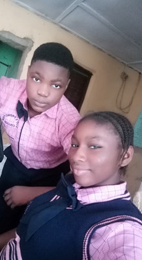 A couple of our students at Truth and Life Science Academy in Lagos