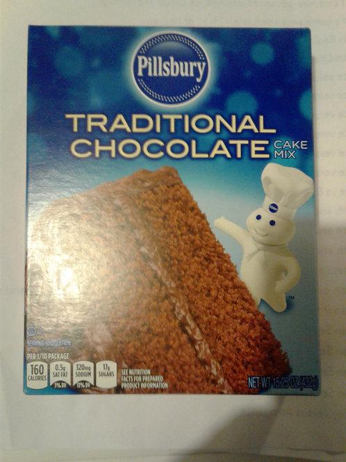 Pillsbury Traditional Chocolate Cake Mix, 15.25 oz
