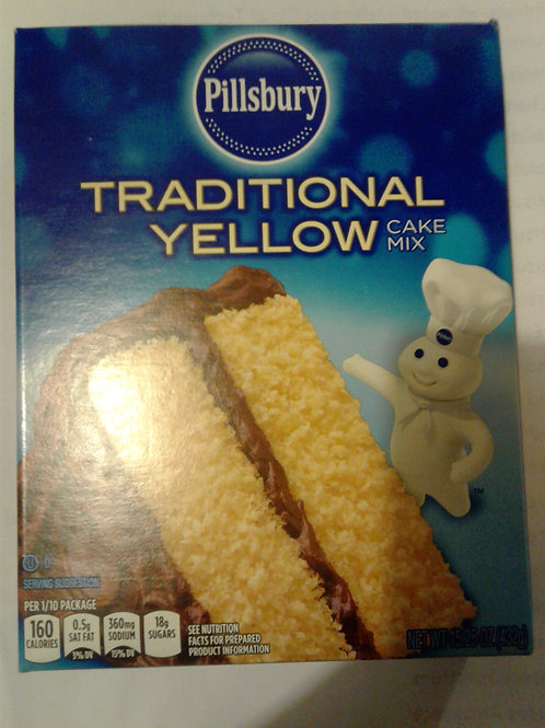 Pillsbury Traditional Yellow Cake Mix, 15.25 oz