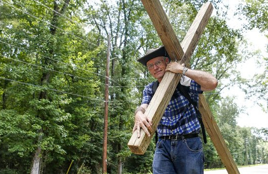 Carrying your cross and following Jesus.