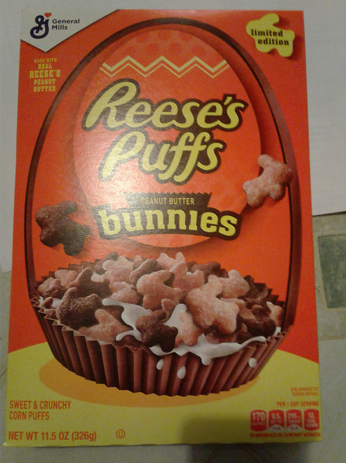 Cereal - Reese's Puffs peanut butter bunnies corn puffs, 11.5 oz