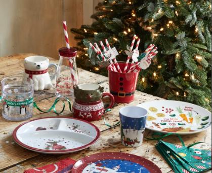 Matalan Christmas tableware for children