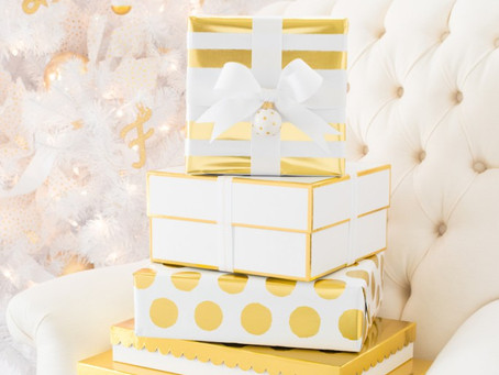 Wrap ideas: White and Gold