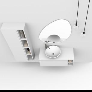 COMP. 16 Particolare lavabo New York in appoggio in ceramica diametro 45.