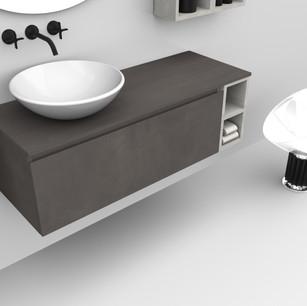 COMP. 03 Particolare lavabo New York in appoggio in ceramica diametro 45.