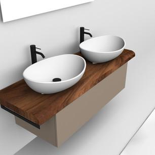 COMP. 08 Particolare lavabo Venezia in appoggio in ceramica da cm 59 x 44 x h 17.