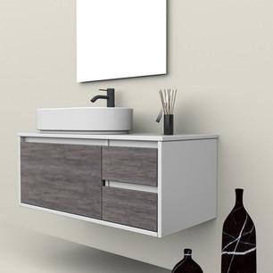 COMP. 103 Particolare lavabo Firenze in appoggio in ceramica da cm 60 x 36 x h 14,5.