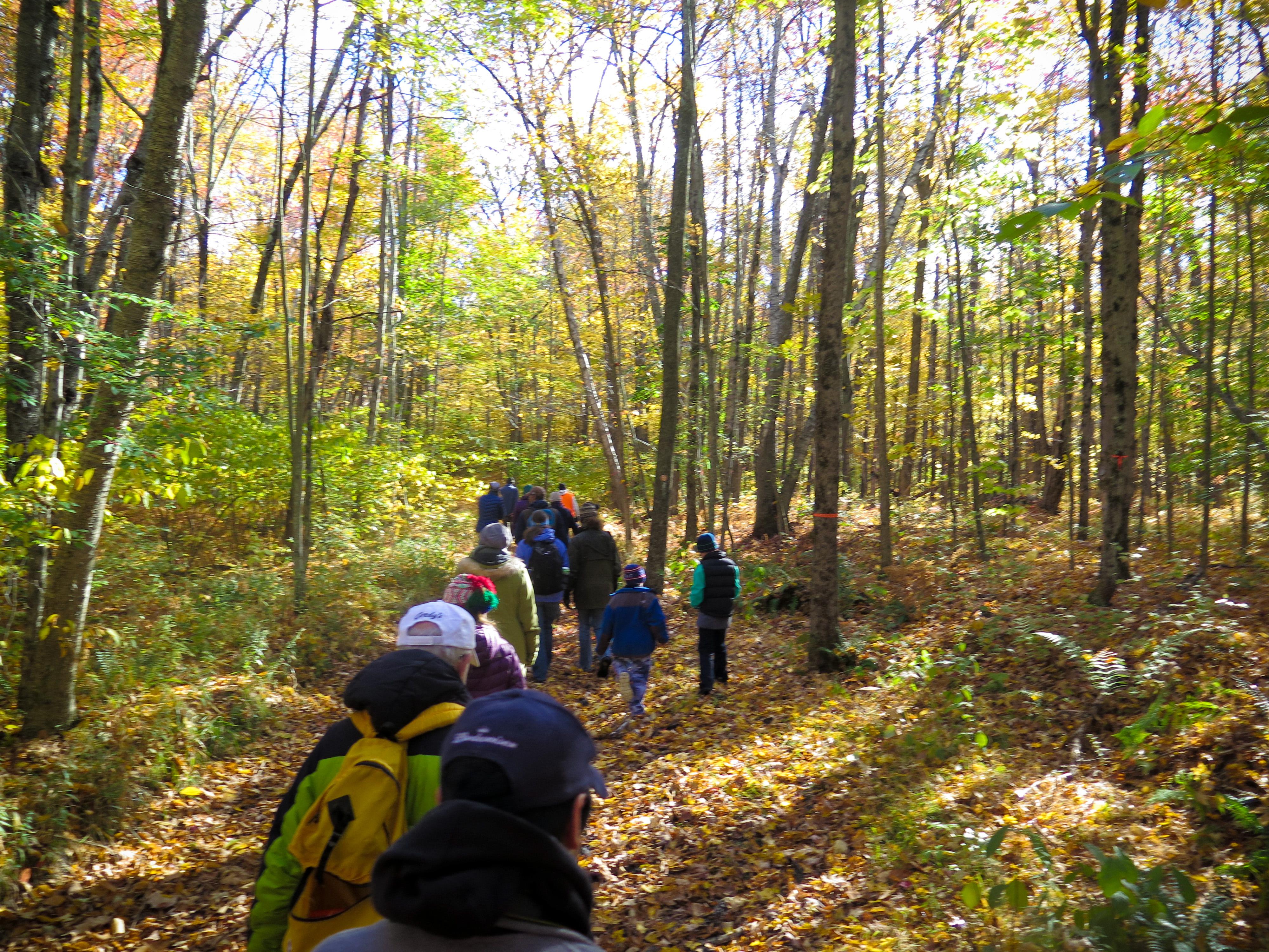 Hikers in the Tobin Preserve 2 Oct 2015 MCherniske
