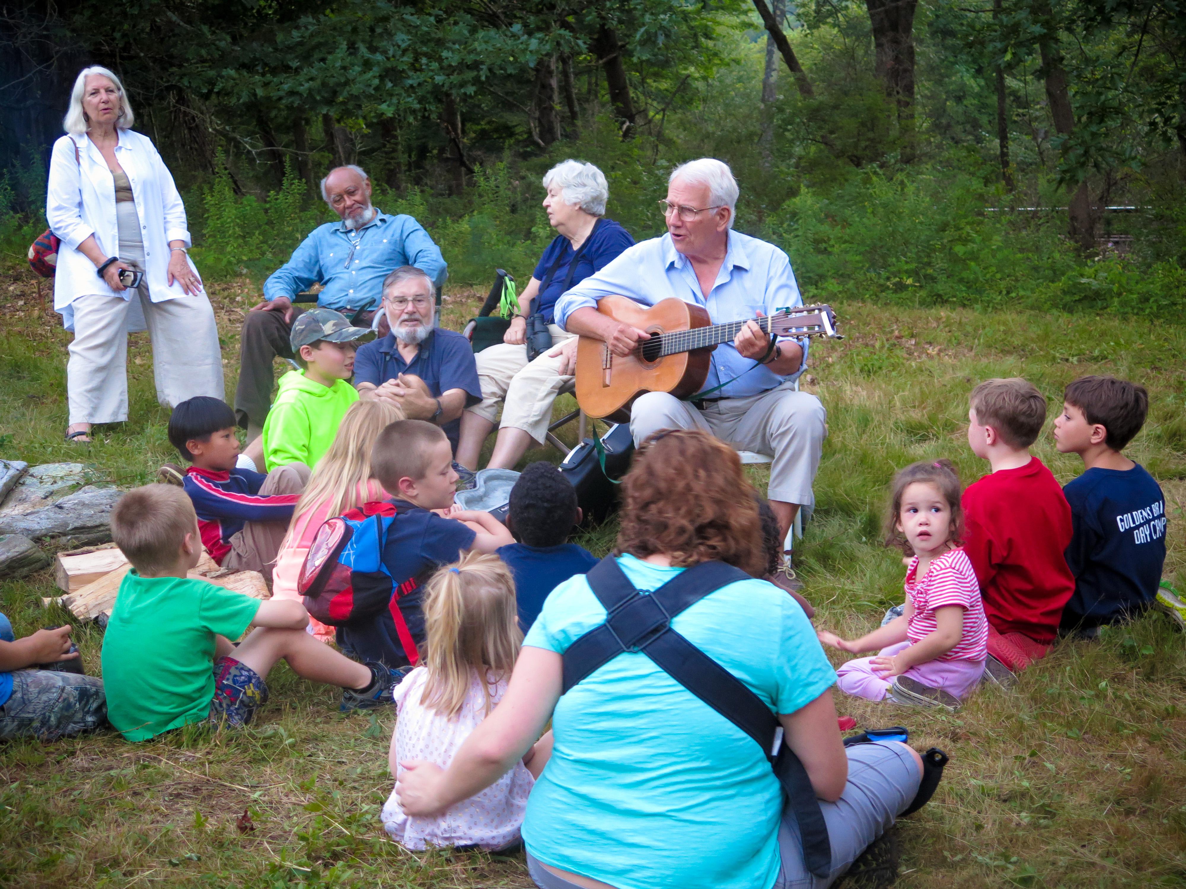 John Baker's fireside concert