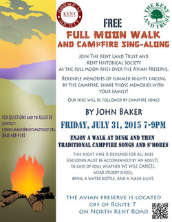Full Moon Hike Poster - July 2015