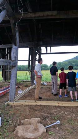 In the barn 1