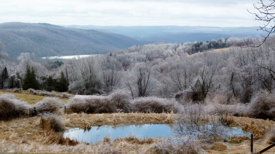 Icy Geer Mtn landscape spring 2014 credit Phil Lang