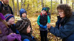 Laurie Doss with frog Tobin Preserve Oct 2015
