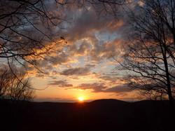 Sunset side of Kent Mountain - credit Matt Barket May 2014