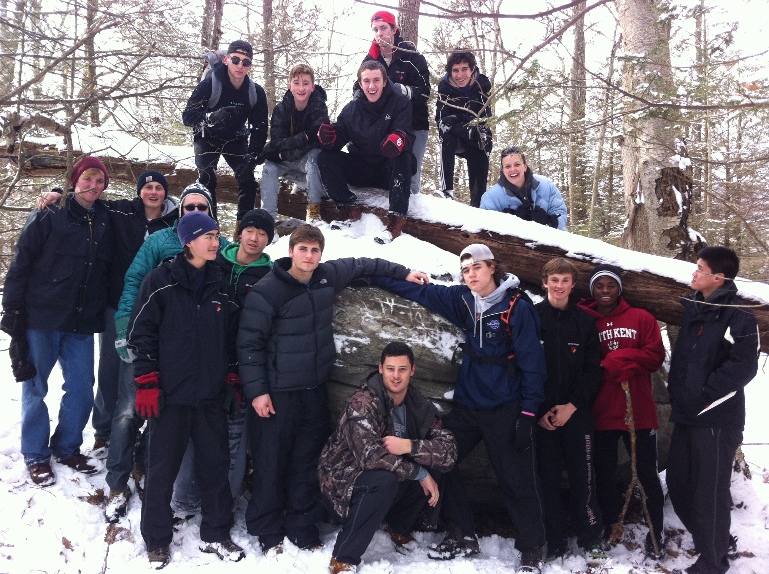 SKS Orienteering students find Molly Fisher Rock winter 2014