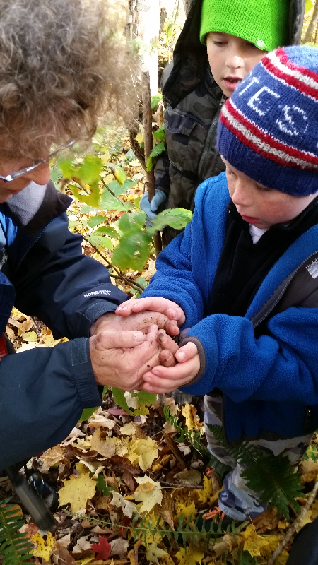 Laurie Doss and Fuller with Salamanders Tobin Preserve Oct 2015_edited