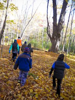 Hikers in the Tobin Preserve Oct 2015 MCherniske