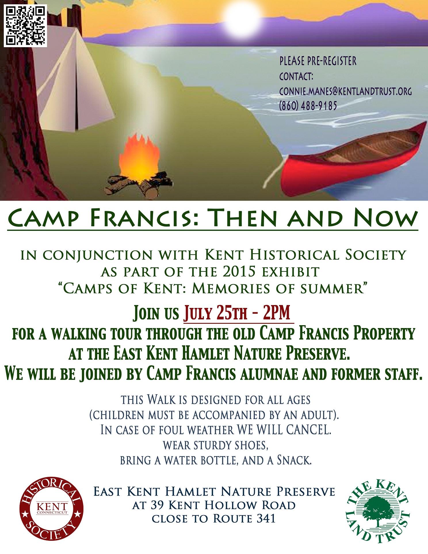 July 25th Camp Francis alumnae hike EKHNP poster 2