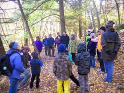 Bob Tobin addresses the hikers Tobin Preserve Oct 2015 MCherniske