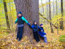 Tree Huggers in the Tobin Preserve Oct 2015 MCherniske