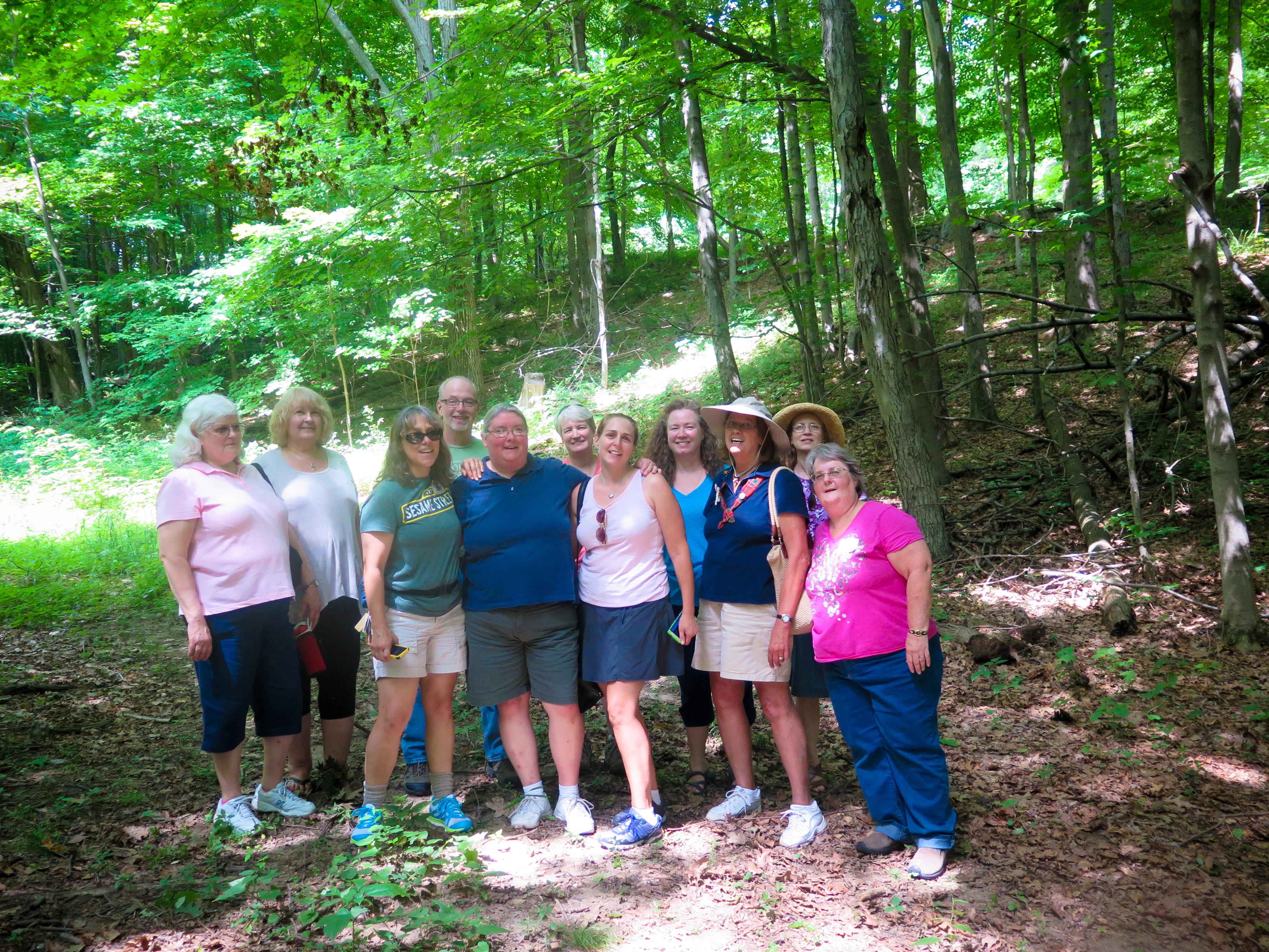 Camp Francis Girl Scout alumni at EKHNP3 7-25-15 MCherniske