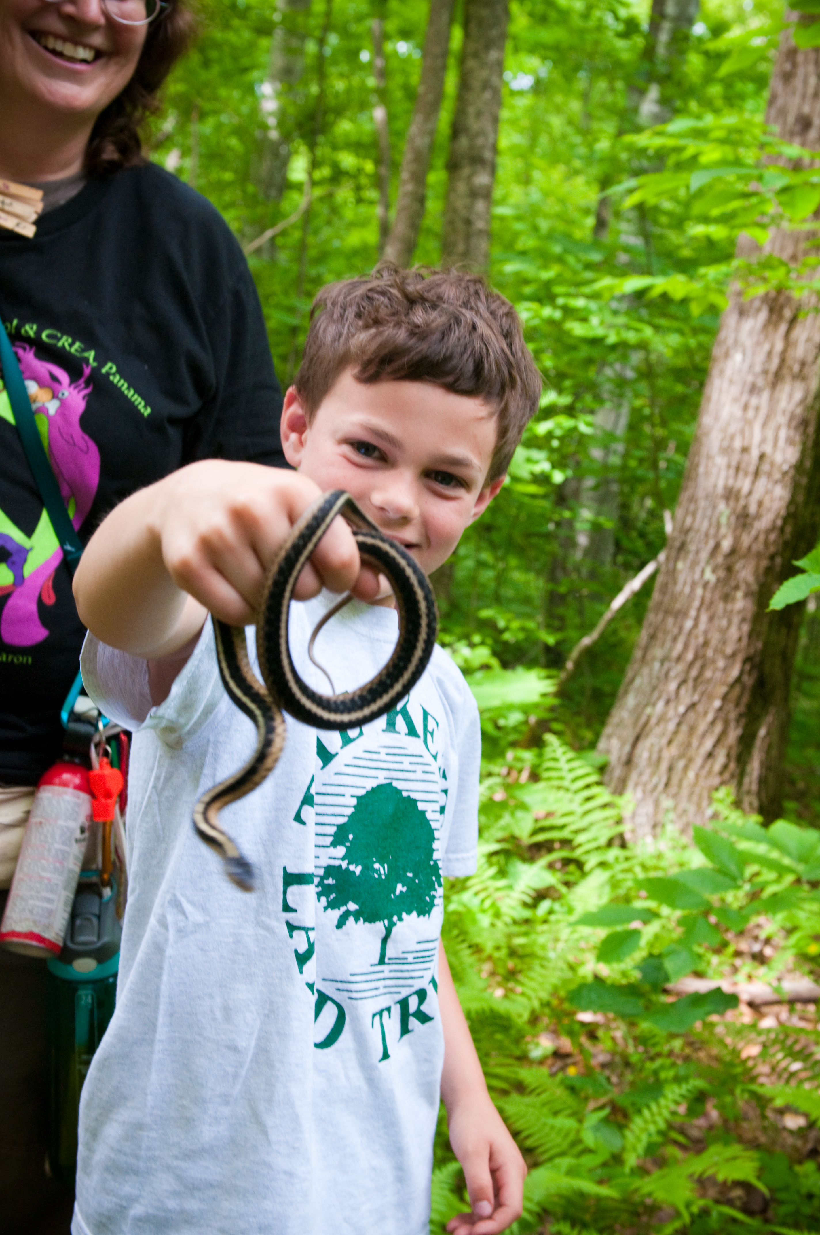 Woody with garter snake