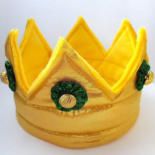 Royal Crown - Gold with Green and Gold Embellishments (Medium)