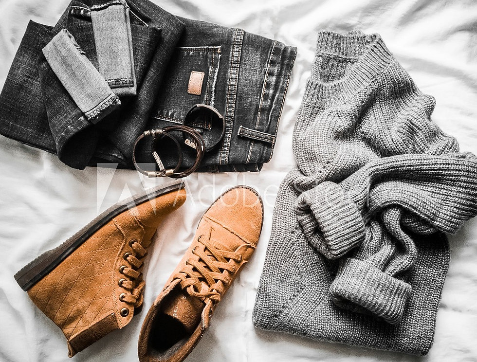 winter clothing, trendy outfit