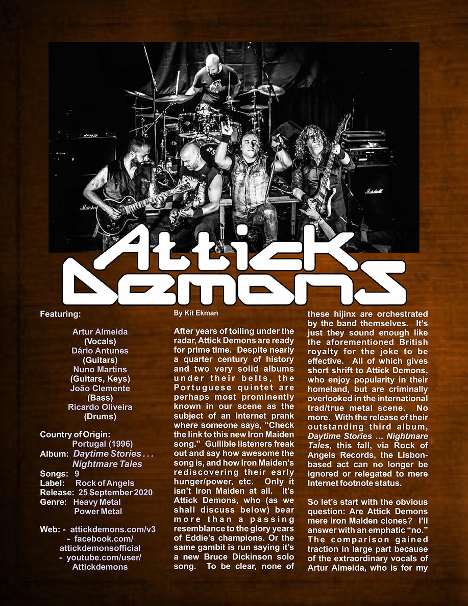 Attick Demons - Daytime Stories...Nightm