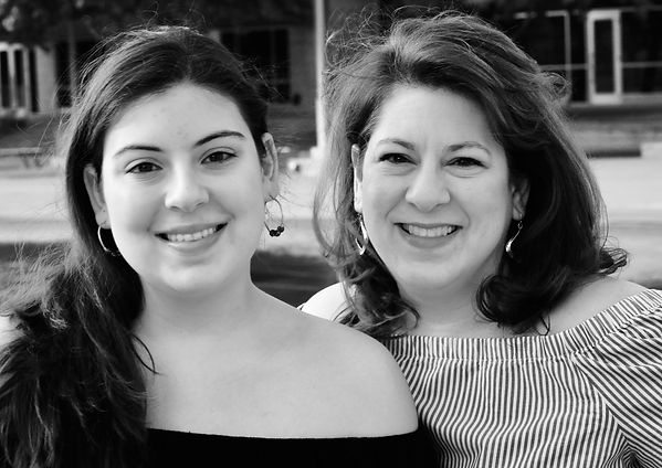 Mother and Daughter B&W