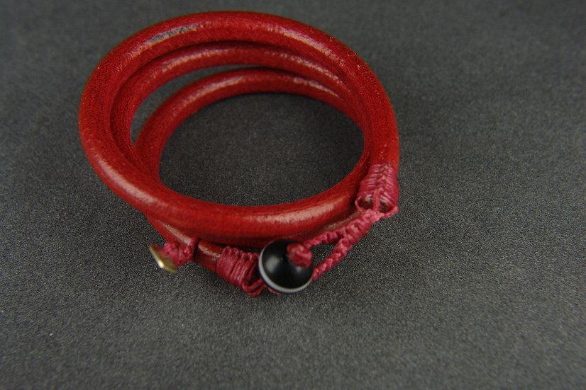 bracelet 3 rangs cuir de buffle taille L à XXXL
