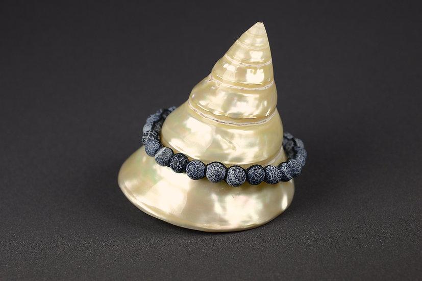 Bracelet perles de porcelaine style spider web