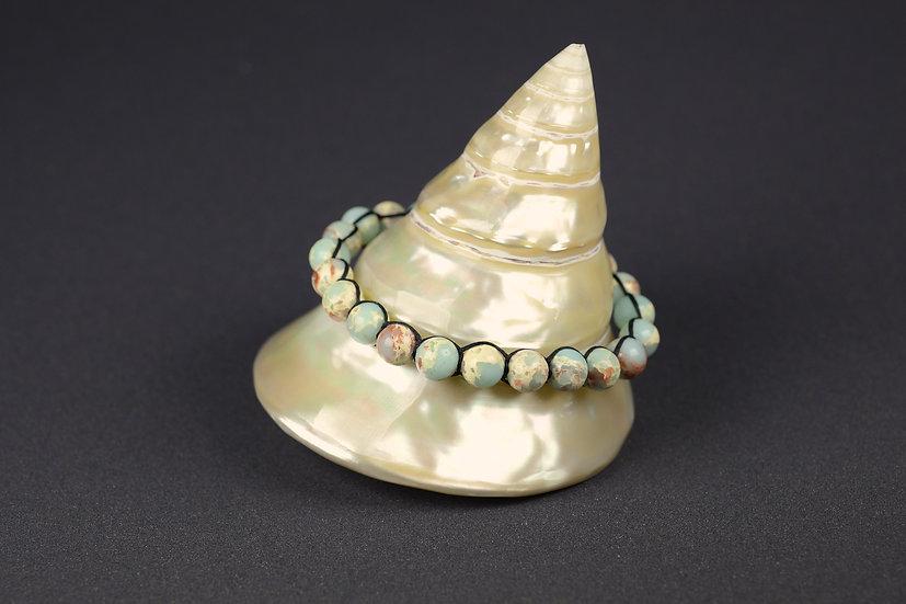 Bracelet perles de verre planisphère